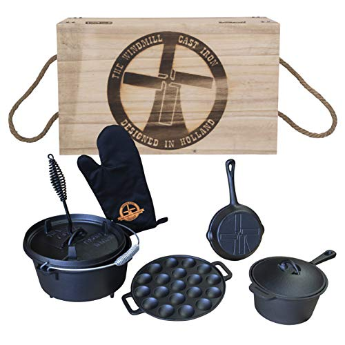 The Windmill Dutch Oven 4,5Qt Starter Set in Transportkiste