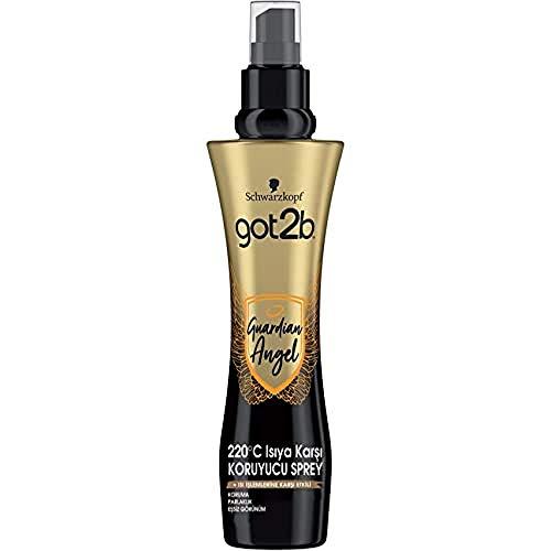 Got2b - Spray protector del calor Guardian Angel - 3uds de 200ml (600ml) – Protege el pelo de los efectos del calor – Protección del calor hasta 220ºC
