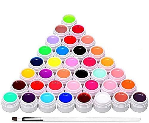 Anself 36 Colori Gel Unghie,Kit Smalto per Unghie per Manicure per Unghie Artistiche