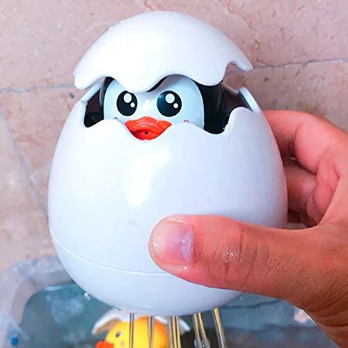 Juguete de baño de animales de dibujos animados lindo huevo pingüino flotante juguete educativo temprano de dibujos animados baño spray agua juguetes para niños