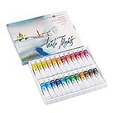 Set de tubo de acuarela – Pinturas de calidad de artista de grado profesional - 24 colores en tubos de 10 ml – Marca de rango superior WHITE NIGHTS desde Rusia