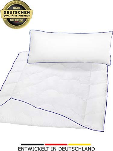 Betten-Set inSPIRO | Kissen 40x80 cm & Bettdecke 135x200 cm Standardgröße | Flauschige Schlafdecke & Optimales Nackenstützkissen | Technologie mit Feuchtigkeitsmanagement und hoher Atmungsaktivität