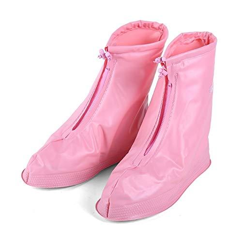 ZHAODONG Rain Gear Supplies Mode Enfants PVC Anti-dérapant imperméable Couvre-Chaussures à Semelles épaisses Taille: M (Rose) (Couleur : Baby Blue)