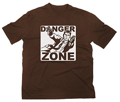 Danger Zone Logo T-Shirt, L, braun