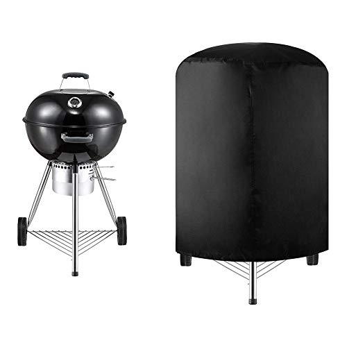 Complète Round Housse pour Barbecue, Barbecue Résistant a l'eau Grill Cover, Heavy Duty Outdoor Smoker Couverture Barbecue au Gaz Couverture, Protection UV Antipoussière Coupe Vent Repos assuré