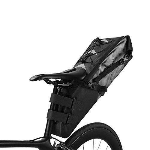 ROCKBROS Fahrrad Satteltasche 100% Wasserdicht IPX7 10L Fahrradtasche Hinterrad Tasche Sitztasche
