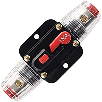 ANJOSHI 100A Circuit Breaker 20-300Amp With Manual Reset Fuse Holder for Auto Car Protection Stereo Switch and Amps Overload Protection 12V-24V DC Replace Fuses