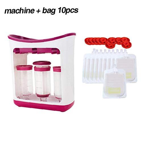 Lankater Babynahrung Fütterung Maschine Obst Maischen Quetschen Verpackung Organizor Haushaltsvorratsbehälter 1pc
