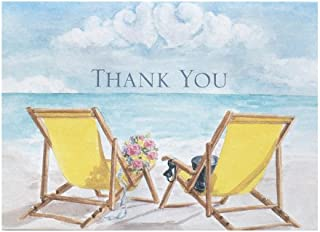 Hortense B. Hewitt Seaside Jewels Thank You Notes, 4.8 x 3.5, 50 Count