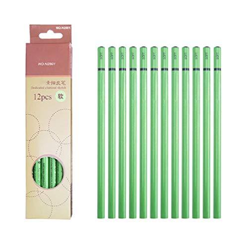 12 stücke Professionelles Skizzieren Holzkohle Bleistiftzeichnung Kohlestift Weiches mittelhartes Dienstprogramm um Bleistifte zu verwenden