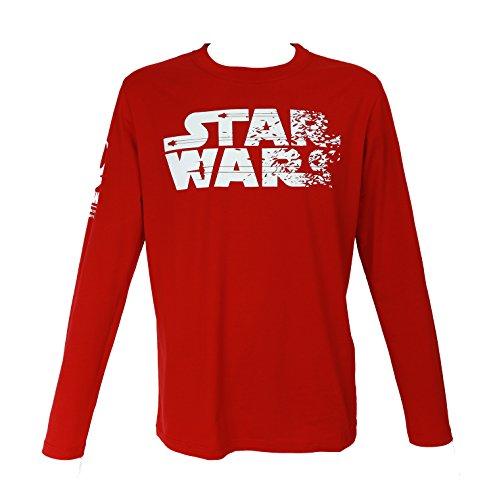 SD toys Restaurar La Republica Chico Star Wars EP. VIII Camiseta de Manga Larga, Rojo, Small (Tamaño del Fabricante:S) para Hombre