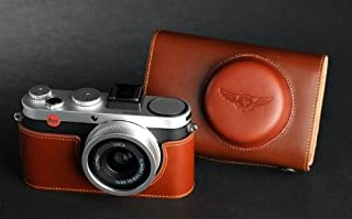 Brown color Genuine real COW leather case bag cover for CANON EOS M2 EOSM2 Camera 18-55 Zoom lens