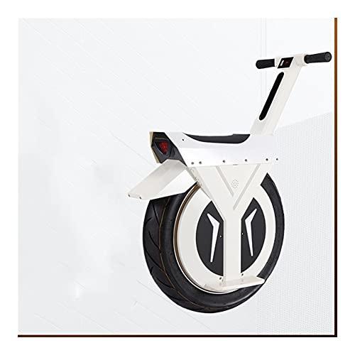 QIU Patinete eléctrico Unicycle de 500 W para motocicleta, hoverboard, Monowheel, bicicleta eléctrica grande (color: blanco 60 km)