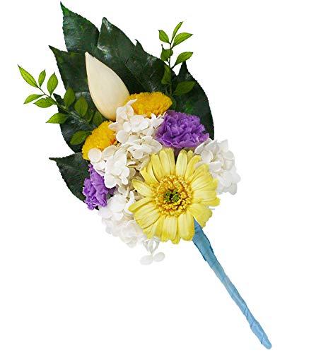 【蓮華】 プリザーブドフラワー 仏花 お盆 彼岸 お供え 仏壇 に凛とした佇まい 専用クリアケース