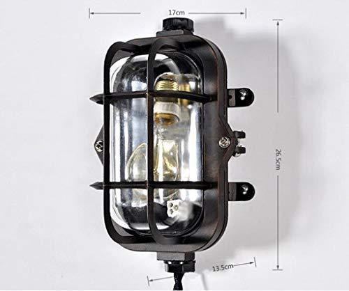 ZHYTX Armed American Glass ausziehbare Wandleuchte Schirm Modern Minimalist Persönlichkeit Industriegebläse Nachttischlampe (Schwarz) a +,# 1