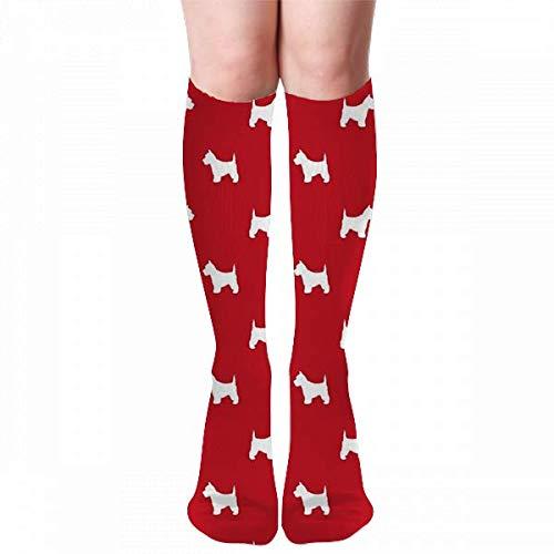 Osmykqe Westie West Highland Terrier Dog Red Calcetines para Invierno, Calcetines de Senderismo para Hombre y Mujer