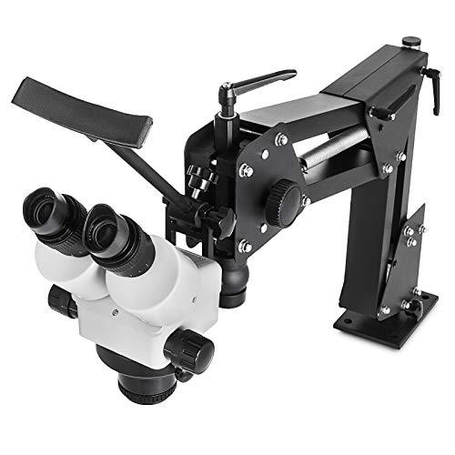 VEVOR Microscopio Incrustado Microscopio Multidireccional Herramientas Joyería7X-4.5X