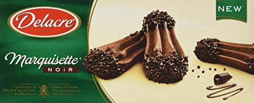 Delacre 5767 Marquisette Noir - Schokoladengebäck aus Mürbeteig- Feinster Schokoladenkeks aus Kakaoteig -(1 x 110g)
