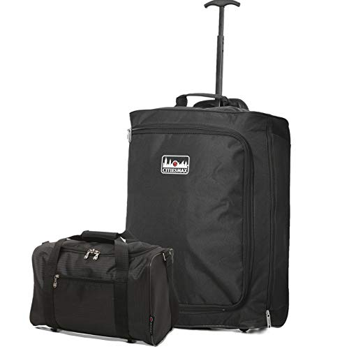 Ryanair 55x40x20 & 40x20x25 Maximum Priority Boarding Bundle - Take The Max on Board (Black + Black)