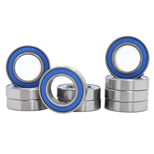 6801RS Ball Bearing 12x21x5mm,12x21 ABEC 3 Blue Rubber Sealed Precision Ball Bearings (Pick of 10pcs)