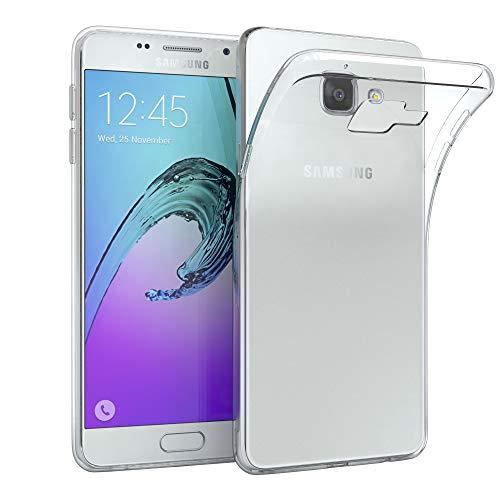 EAZY CASE Hülle kompatibel mit Samsung Galaxy A5 (2016) Schutzhülle Silikon, Ultra dünn, Slimcover, Handyhülle, Silikonhülle, Backcover, Durchsichtig, Klar Transparent