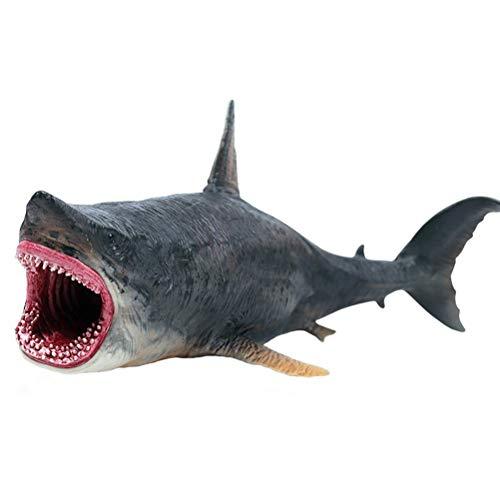 FLORMOON Tierfiguren Spielzeuge Megalodon Wal-Figur Realistisch Handgemalt Hai-Figur Tiere Actionfiguren Dekorative Sammlung Geschenk für Kinder