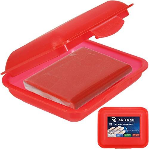 Reinigungsknete Lackreiniger Glasreiniger STARK Polierknete Lackknete ROT 200g inkl.Box
