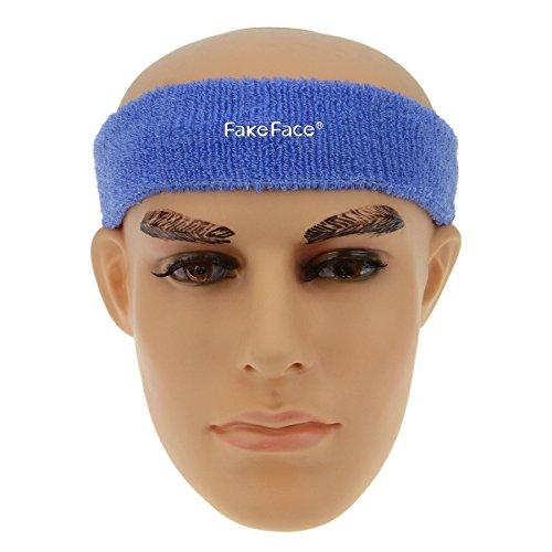Bandeau Sport Bande de Cheveux Serre-tête Anti-Transpiration Headband Adulte Homme Femme pour Yoga,Course,Fitness,Ski de Fond,Badminton,Tennis et Autres activités de Plein air-Bleu