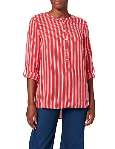 BRAX Vanda Cupro Stripes damska bluzka w paski ze stójką