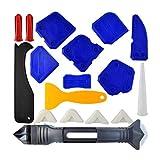 18 PCS Kit de herramientas de calafateo de silicona 3 en 1 Herramientas de calafateo Sellador de silicona Herramienta de acabado Scraper Remover Removedor de calafateo de calafateo