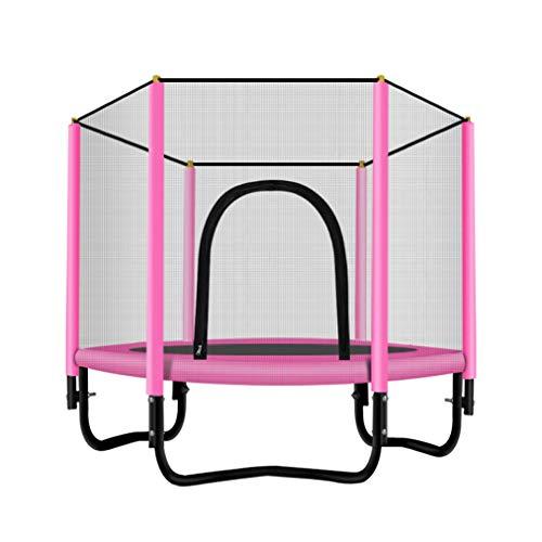 JCJ-Shop Trampoline für Kinder, Indoor-Fitness-Trampolin für Erwachsene, stabil, stumm, tragendes Cricket-Bett mit starkem Rückprall, mit PVC-Sprungbett mit Verschlüsselungsnetz
