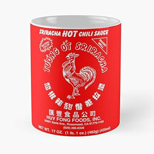 Argentwork Chili Chilli Red Original Hot Sauce Rooster Sriracha Best 11 oz Kaffeebecher - Nespresso Tassen Kaffee Motive