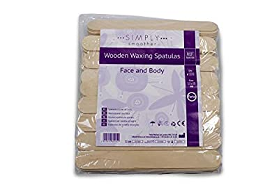 Simply Smoother Wooden Wax Applicator Spatula Sticks | Pack of 100 | Perfect for Hair Removal & Beauty Procedures