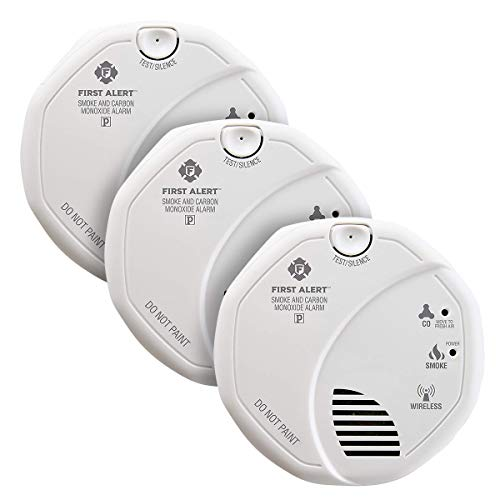 First Alert Wireless Interconnected Photoelectric Smoke and Carbon Monoxide Combo Alarm with Voice and Location, SC500-3
