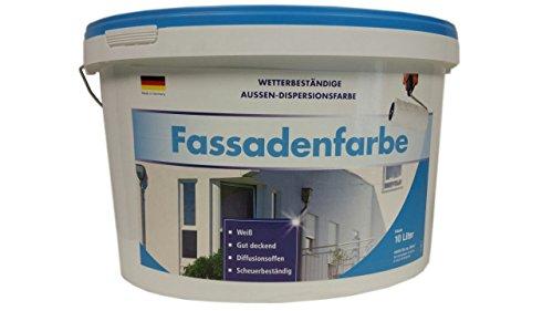 Meffert Fassadenfarbe Wetter&Scheuerbeständige Aussen-Dispersionsfarbe Weiß 10 Liter.