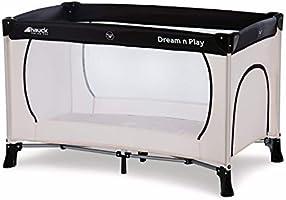 Hauck Dream N Play Plus 3-Delad Resesäng med Bärväska + Vikbar Madrass, 120 x 60 cm, från Födsel upp till 15 kg,...