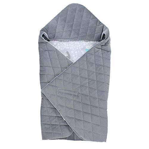 TupTam Baby Einschlagdecke für Babyschale - Sommer, Farbe: Igel Grau, Größe: ca. 75 x 75 cm