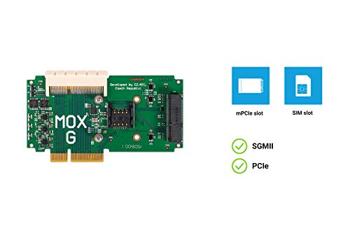 Turris MOX G (Super Extension) Module   mPCIe Slot for WiFi Card/Disk Controller/LTE Modem, SIM Card Slot, Pass-Through PCIe Bus   for Open Source & Secure MOX Router