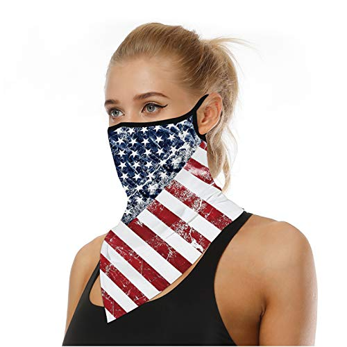 Face Bandana Neck Gaiter Face Scarf Ear Loops Balaclava for Dust Mask Man Woman