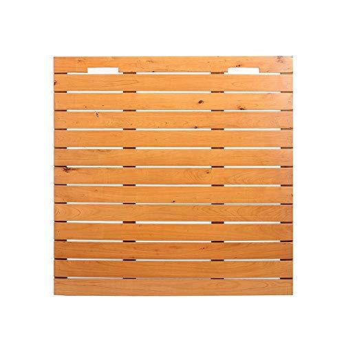 JJSFJH Holz Badematte, Duschmatte Nicht Beleg for Bad, Dusche Slatted Umweltschutz Anti-Rutsch-Waterproof Unterstützung Customization Duscheck (Size : 60x60cm)