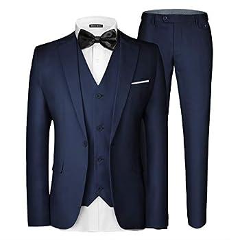 Best navy blue suits men Reviews