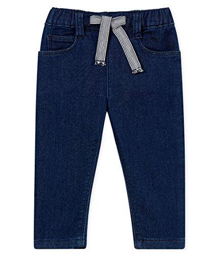 Petit Bateau Bandeau Pantalon, Bleu (Jeans 01), Nouveau-né (Taille Fabricant: 3 Mois) Bébé garçon