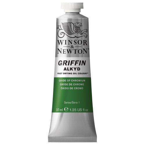 Winsor & Newton Griffin Alkyd - Tubo óleo de secado rápido, 37 ml, Óxido de Cromo