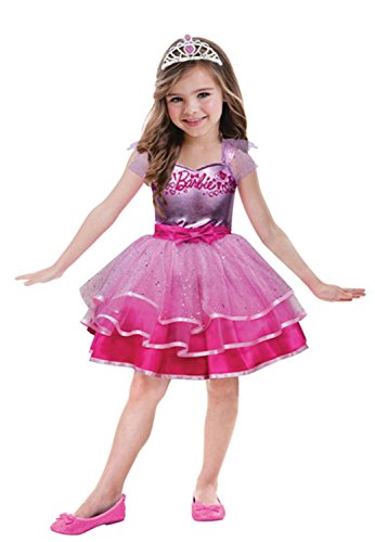 Idena- Costume Barbie Ballet Tg 3-5 Anni, Multicolore, 104 cm, 7AM999545