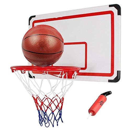 ZAIHW Ajustable Montado en la Pared del aro de Baloncesto, Encima de la Puerta de Montaje en Pared Tablero Cesta con Bolas y Cubierta de la Bomba Estándar Número 7 Baloncesto