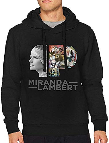 lifangtaoT Herren Hoodie Kapuzenpullover, Men's Novelty Hoodies Activewear Top Hoodies Men's Hoody Miranda Lambert Men's Drawstring No Pocket Classic Hoodies