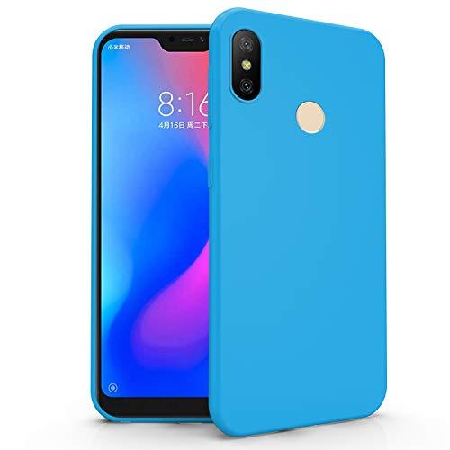 N NEWTOP Cover Compatibile per Xiaomi Mi A2 Lite, Custodia TPU Soft Gel Silicone Ultra Slim Sottile Flessibile Case Posteriore Protettiva (Azzurro Newtop)
