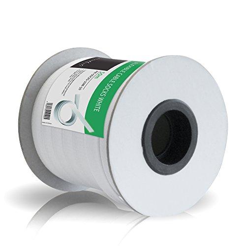 Preisvergleich Produktbild PureMounts PM-SOCKS-20W-50 Universeller Polyester-Kabelschlauch,  selbst zusammenziehend mit Klettverschluss,  Ø 20mm,  Rolle 50m,  weiß