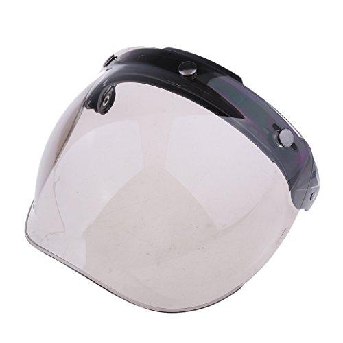 casco moto 3 kesoto Visiera Con Visiera Protettiva Per Casco Con Visiera A 3 Bottoni Universale Per Moto - Colore # 2