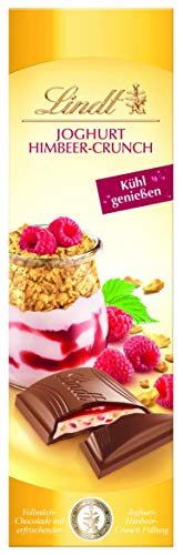 Lindt Joghurt Himbeer-Crisp Tafel, Vollmilch Schokolade mit erfrischender Joghurt-Himbeer-Crunch Füllung, 1er Pack (1 x 100 g)